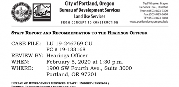 BDS Staff Report and Recommendation: Conditional Use Review for St. Mark's Church Site at 5415 SE Powell (LU 19-246769 CU)