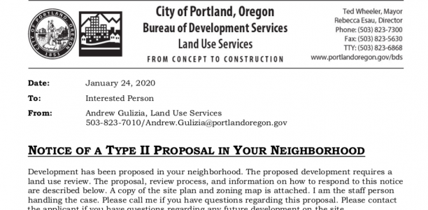 Land Use Notice: 7740 SE Powell Blvd. (LU 19-265489 AD)