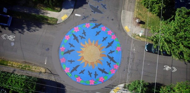 July 31st South Tabor Street Painting Update – Get Involved, Add Your Family Handprints, T-Shirts Available!